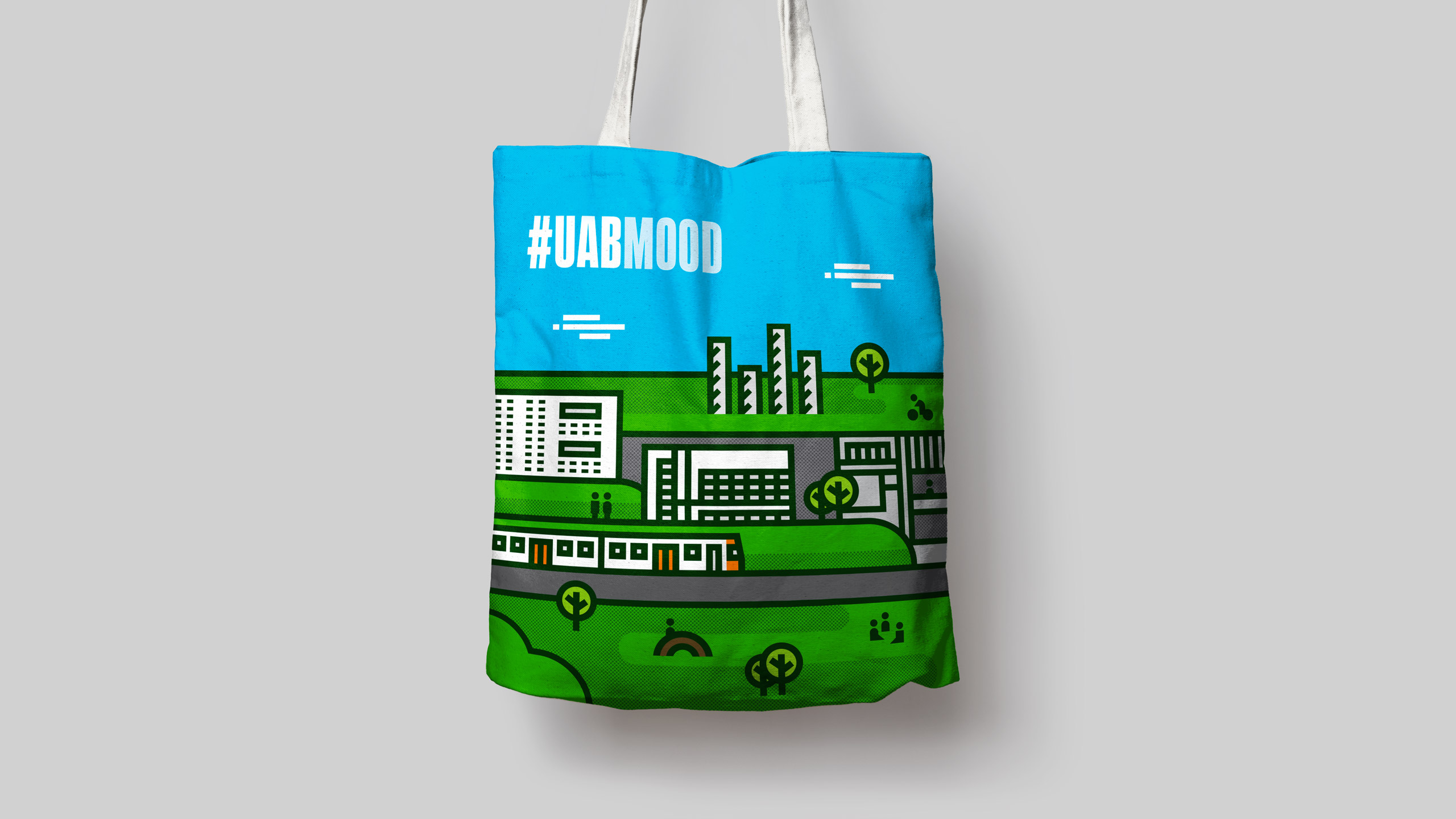 Bolsa UABmood diseñada por mètode